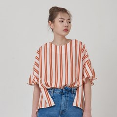 STRIPE TOP_ORANGE