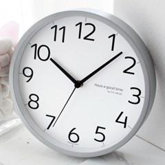 무소음벽시계 메탈220_좋은시간