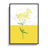 꽃일러스트 포스터 인테리어 액자 3종