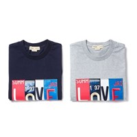 MIX PATCH 1/2 T-SHIRT GRAY
