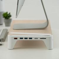 고속충전 USB허브 모니터받침대 Woody - Fast Charging Hub