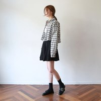 Mini frill banding skirt
