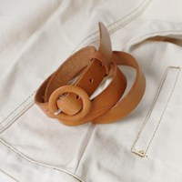 Cowhide leather round belt