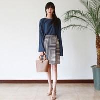 Ethnic wrap skirt