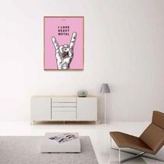 유니크 인테리어 디자인 포스터 M 아이러브헤비메탈