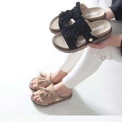 kami et muse Suede tessle tall up slippers_KM17s202