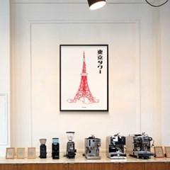 일본 인테리어 디자인 포스터 M 도쿄타워 일본소품
