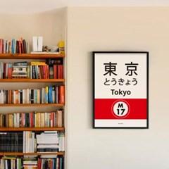 일본 인테리어 디자인 포스터 M 도쿄메트로 일본소품
