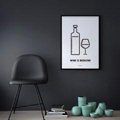 유니크 인테리어 디자인 포스터 M 와인이즈매디슨