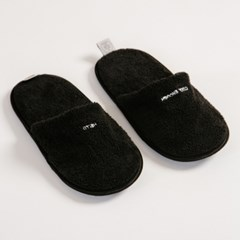 THE TOWEL SLIPPERS BLACK