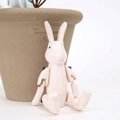[T-LAB] 원더랜드 목각 토끼 인형-핑크