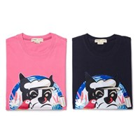 POP-SAILOR DOG PATCH 1/2 TS PINK
