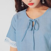 쁘띠 리본 blue lace mini OPS