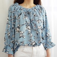 Summer off-shoulder blouse