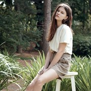 Linen Short Pants - Khaki Brown