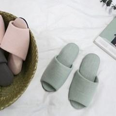 [rooms5] 내추럴 코튼 토오픈 슬리퍼 3color