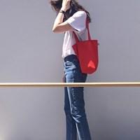 [더블유더블유]linen mini ecobag - red