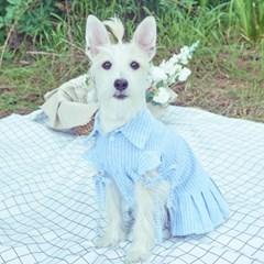 러브핫핏 x 무드므아 Stripe cutted sleeve cotton dress(set)