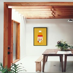 일본 인테리어 디자인 포스터 M 오렌지주스 일본소품