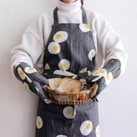 [Fabric] des oeufs pattern linen (계란후라이)