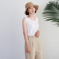 Linen simple sleeveless