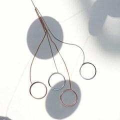 O-ring drop bar earrings