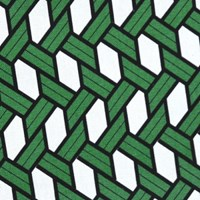 raffia green cushion