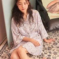 Romantic blue robe / RMGN726RM1