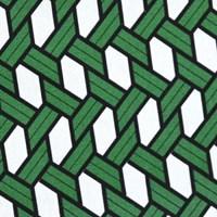 raffia green pouch