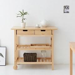 마켓비 RENJY 원목트롤리 자작나무/소나무