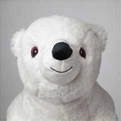 이케아 SNUTTIG 봉제인형, 북극곰, 화이트_(701274424)