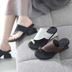 kami et muse Chunky heel flip flop slippers_KM17s236