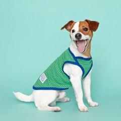 [플로트] 시그니쳐 강아지 민소매 티셔츠 - 프레쉬 그린