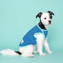 [플로트] 시그니쳐 강아지 민소매 티셔츠 - 프레쉬 블루