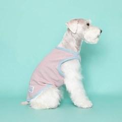 [플로트] 시그니쳐 강아지 민소매 티셔츠 - 프레쉬 핑크