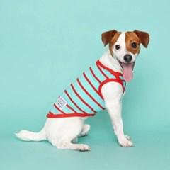[10x10단독] 시그니쳐 강아지 민소매 티셔츠 - 샤이닝 레드