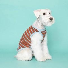 [플로트] 시그니쳐 강아지 민소매 티셔츠 - 샤이닝 브라운