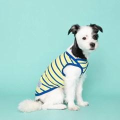 [플로트] 시그니쳐 강아지 민소매 티셔츠 - 샤이닝 옐로우