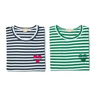 NOMANTIC STRIPE 1/2 T-SHIRT GREEN