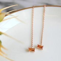 쁘띠 시트린 체인 귀걸이 petite citrine chain earring
