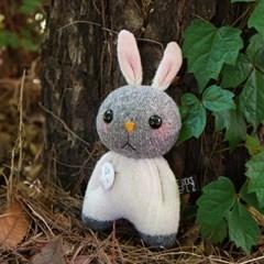 양말인형 삑삑이 토끼 래빗정 키링(화이트)