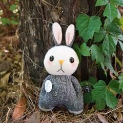양말인형 삑삑이 토끼 래빗정 키링(차콜)