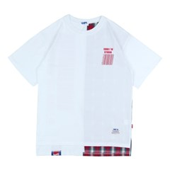 CHECK MIX BARCODE T-SHIRTS RED