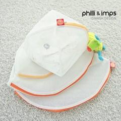 [필리앤임프스] 국내생산 무형광 원형 세탁망 4종세트