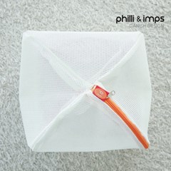 [필리앤임프스] 국내생산 무형광 원형 세탁망 미듐 M