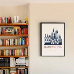 인테리어 디자인 포스터 M 바르셀로나 파밀리아성당