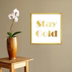 LP 메탈 액자 - stay gold
