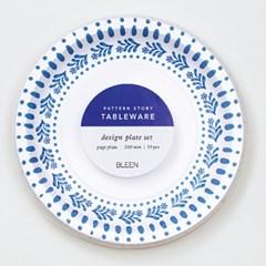블루세라믹 믹스 종이접시 L (10p)