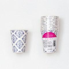 블루세라믹 패턴 종이컵 (10p)