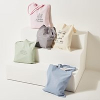 [Ro-Co Bag] 로맨틱 레터링 에코백(Blue) RMAK724GM1